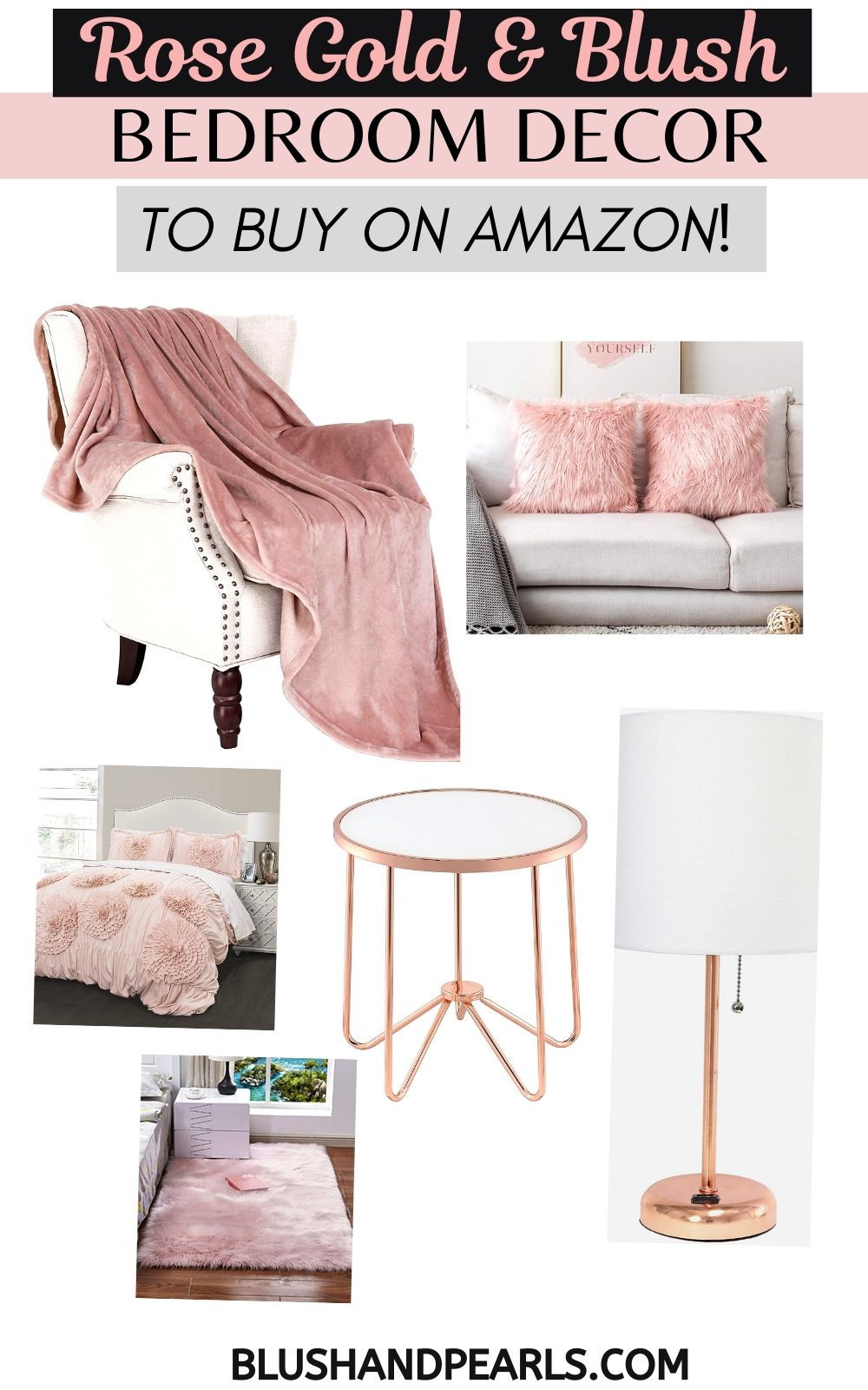 Rose Gold Bedroom Decor To Buy On Amazon Blush Pearls
